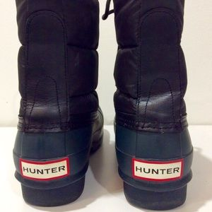 Hunter quilted short Wellington boots Sz 8